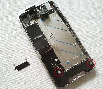 замена динамиков iphone 4